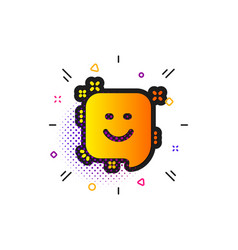 Smile icon positive feedback rating sign vector