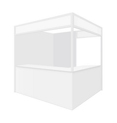 Square retail store stall bar or coffee shop vector