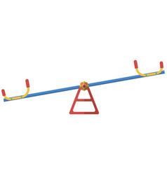 teeter for playground isolated on white vector image