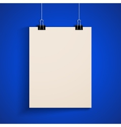 Template a paper sheet poster mock-up vector