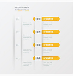 Timeline design template yellow color vector
