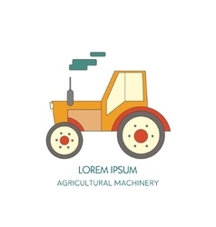 Tractor icon Agricultural machinery vector