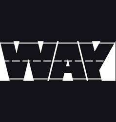 way vector image