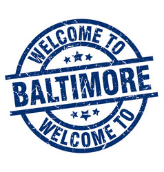 Welcome to baltimore blue stamp vector
