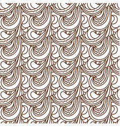 zentangle wavy seamless pattern vector image