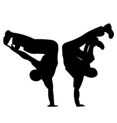 Break dancing vector image vector image
