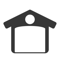 Garage icon Repair and home design vector image vector image
