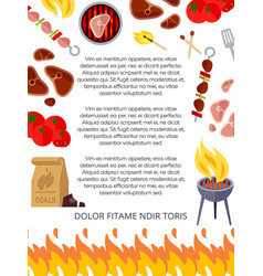 grill house or barbeque poster design vector image vector image