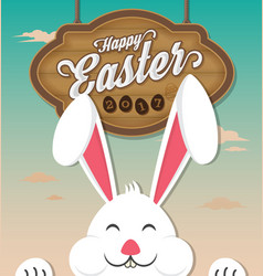 happy easter 2017 vector image vector image