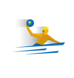 water polo player swimming sportsman with a ball vector image