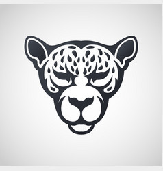 african leopard logo icon design vector image vector image