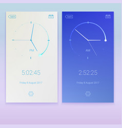 clock application concept of ui design day and vector image