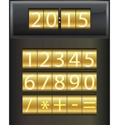 Countdown timer Set of white digital numbers vector image vector image