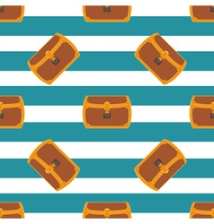 Pirate chest seamless pattern vector