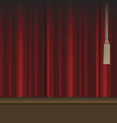 red curtains to theater stage vector image