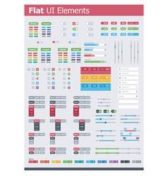 Flat UI elements vector image