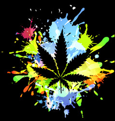 Medical marijuana ink blots vector