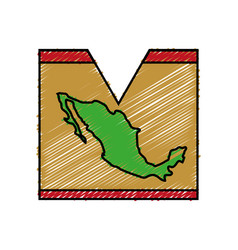 Mexico country map vector