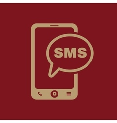 The sms icon smartphone and telephone vector