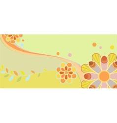 Childrens floral pattern vector image vector image