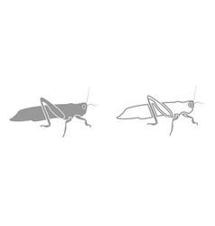 grasshoper it is black icon vector image vector image