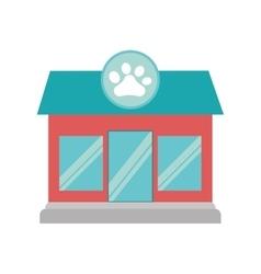 pet shop dog cat paw print facade vector image vector image