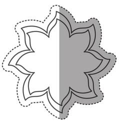 sticker monochrome thin contour of flower icon vector image vector image