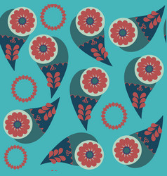abstract seamless pattern paisley it is located vector image