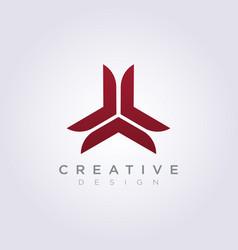 Abstract triangle decorative propeller design vector