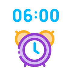 alarm clock time icon outline vector image