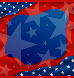 america or usa holidays background vector image