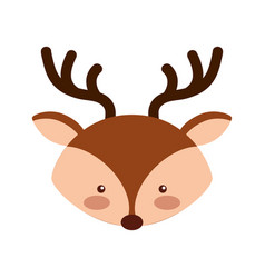 animal reindeer cartoon vector image