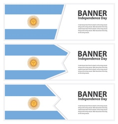 argentina banner vector image