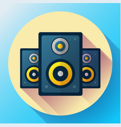 audio music icon and media speaker icon vector image