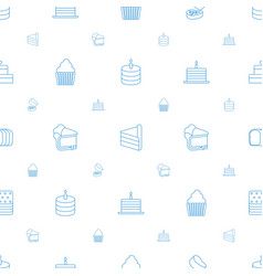 bakery icons pattern seamless white background vector image