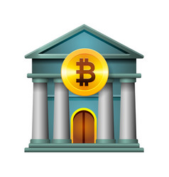bank icon modern design concept cryptocurrency vector image