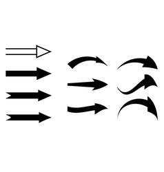 Black arrows - set vector