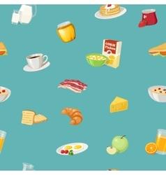 Breakfast Food Pattern vector image
