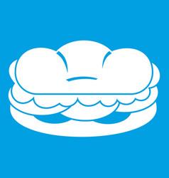 Burger icon white vector