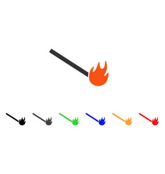 Burned match icon vector