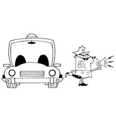 Cartoon police officer vector