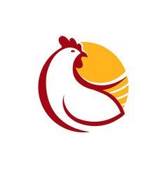 chicken logo farm animal symbol or label vector image