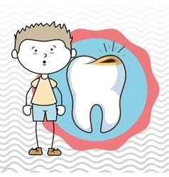 Child tooth isolated icon design vector