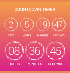 circle countdown clock counter timer on gradient vector image