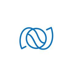 Circle curves wavy symbol logo vector