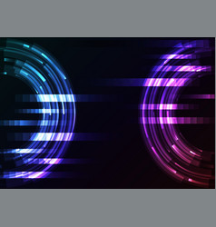 circle digital abstract pixel background vector image
