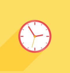 Clock on yellow background vector