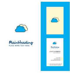 clouds creative logo and business card vertical vector image