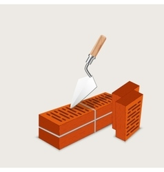 construction of brick vector image
