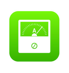 counter icon digital green vector image